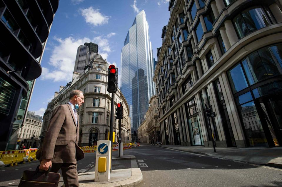A near-deserted City of London (AFP via Getty Images)