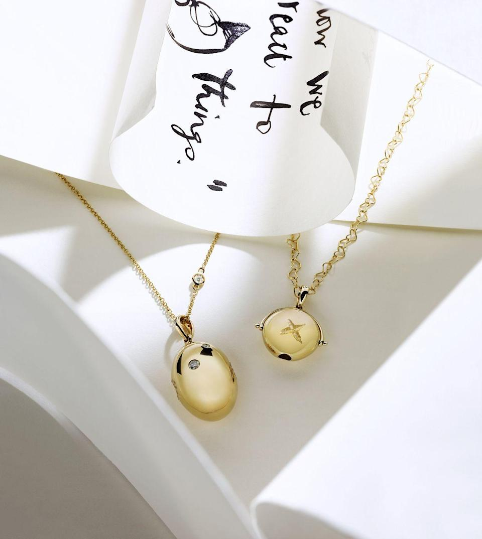 """<p>Following the success of Loquet London's new Lumiere pendants, which launched earlier this year, the jeweller has teamed up with the author and illustrator Charlie Mackesy on a range of charming limited-edition necklaces inspired by his book, The Boy, the Mole, the Fox and the Horse. Each yellow gold pendant contains a miniature lens through which you can view one of five drawings taken from Mackesy's bestseller, and is engraved with a hand-drawn kiss by the artist. It also arrives in a bespoke box with a copy of the illustration, and 50 per cent of profits go to the Harley Jae South charity, which aims to help children with life-limiting conditions and their families. KP</p><p>£1,800, <a href=""""https://www.loquetlondon.com/shop/lumiere/charliemackseyxlumiereforloquet.html"""" rel=""""nofollow noopener"""" target=""""_blank"""" data-ylk=""""slk:Loquet London"""" class=""""link rapid-noclick-resp"""">Loquet London</a></p>"""