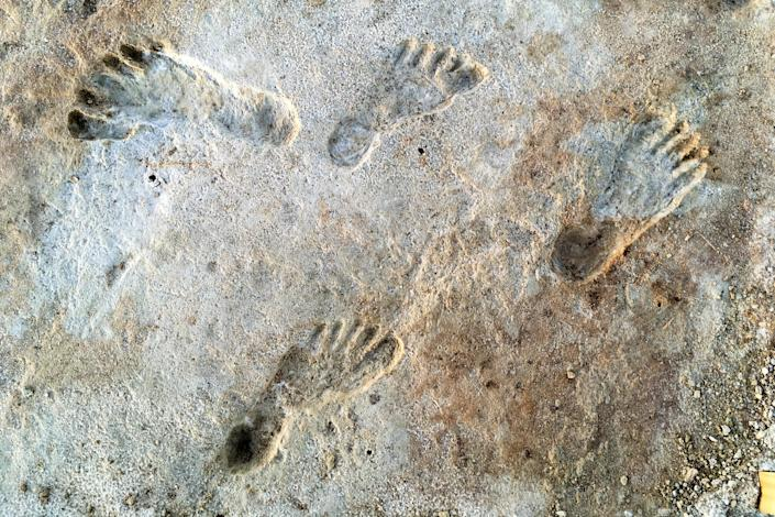 New research into the ancient footprints at White Sands National Park establishes they are the earliest-known evidence of humans in North America. (NPS, USGS and Bournemouth University)