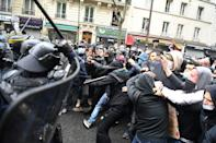 The government said 17,000 people attended the Paris rallies
