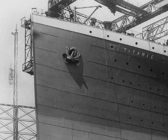 The Titanic's anchor as it appeared in 1911.