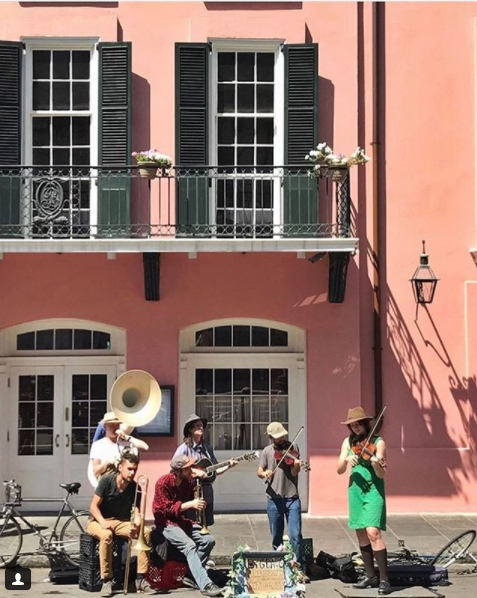The Mojo Triangle begins in New Orleans where music is a part of the city. Source: VisitNewOrleans/Instagram