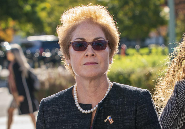 Former U.S. Ambassador to Ukraine Marie Yovanovitch arrives to testify before House committees as part of Democrats' impeachment investigation last week. (Photo: J. Scott Applewhite/AP)