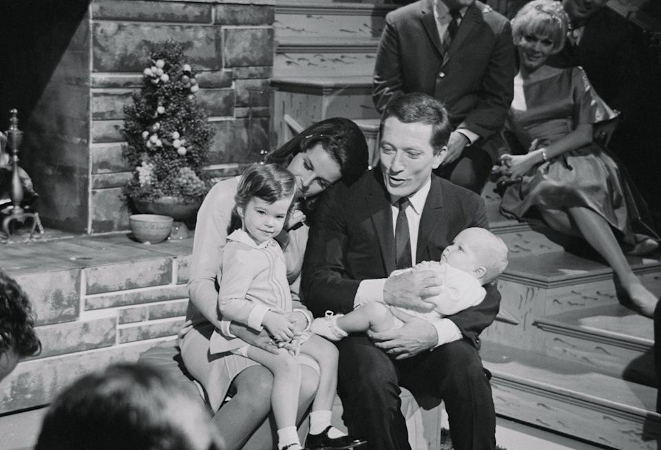 <p>For his holiday Christmas special in 1965, Andy Williams brought his wife Claudine Longet, their daughter Noel and their son Christian onto the show. </p>