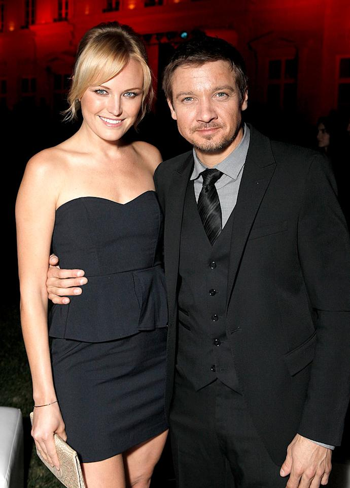 """Malin Akerman and Oscar nominee Jeremy Renner (""""The Hurt Locker"""") also attended the soiree, which auctioned off the first Ferrari 458 Italia to arrive in the United States for $530,000. All funds raised went to Haiti relief. Todd Williamson/<a href=""""http://www.wireimage.com"""" target=""""new"""">WireImage.com</a> - March 18, 2010"""