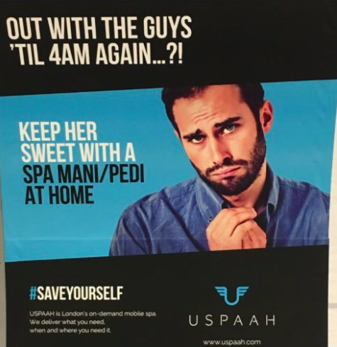 This advert has been accused of being sexist [Photo: Twitter/@edvigeb]