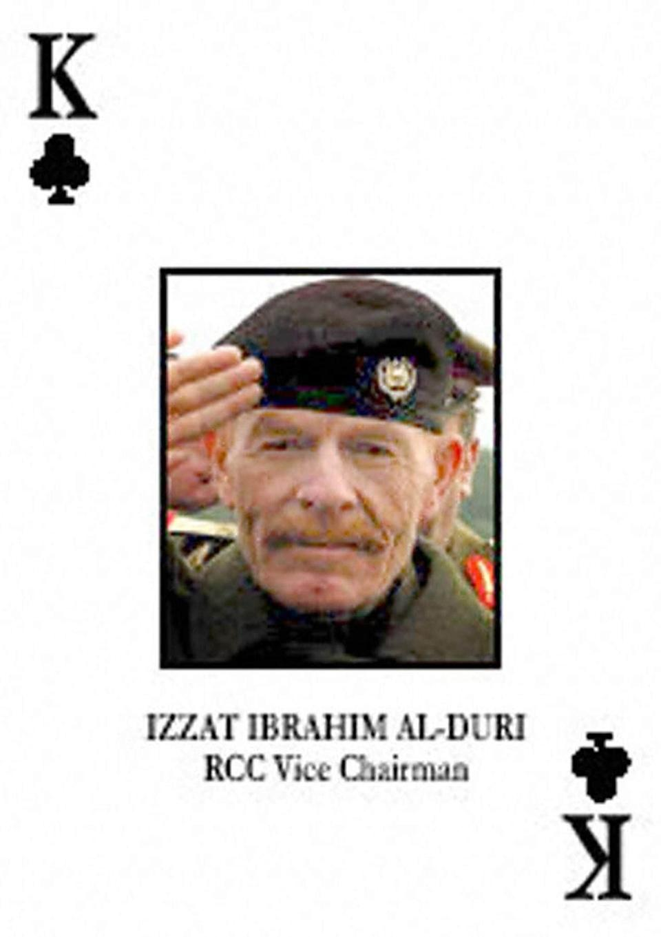 One of the playing cards issued by the US to aid indentification of senior Iraqi figures during the allied invasion of Iraq - DoD/AFP via Getty Images