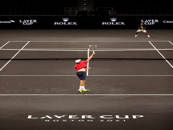 Player in action on Day 1 (Photo: Twitter/Laver Cup)