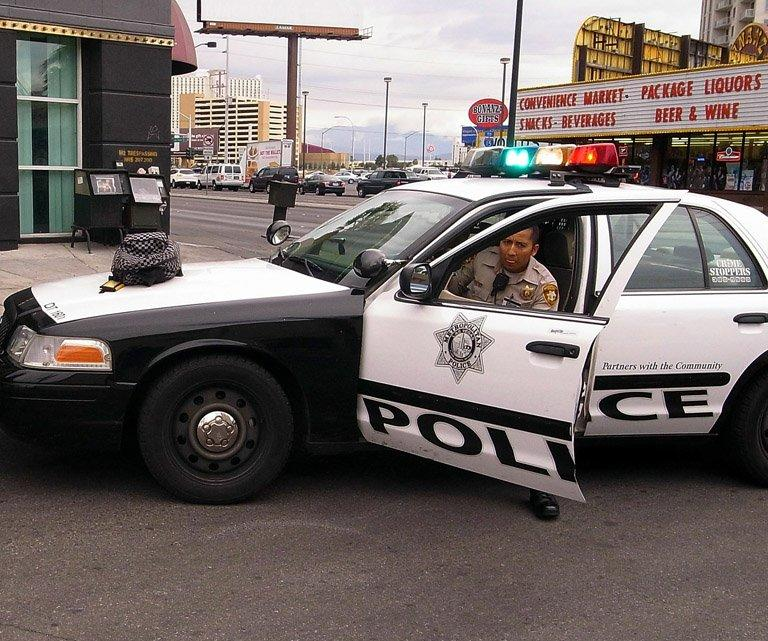 A police officer in Las Vegas, Nevada