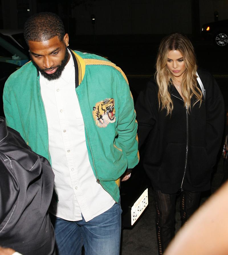 Split: Kardashian and ex partner Tristan Thompson (Splash News)