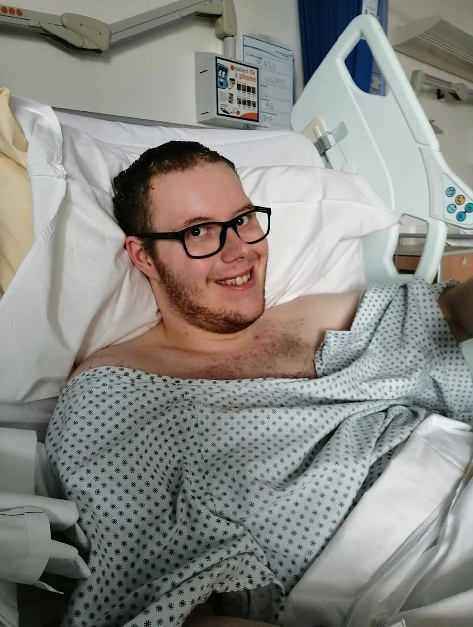 Mark had a ten hour operation to remove most of the tumour in 2020. (PA Real Life)
