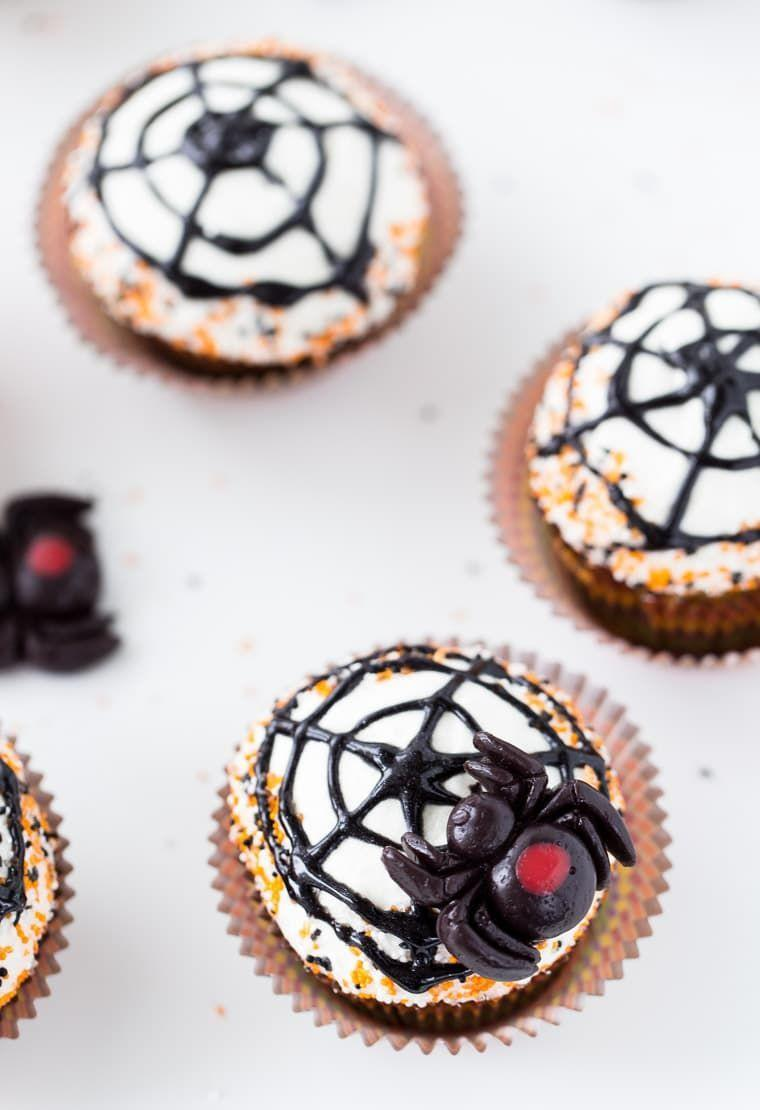 """<p>They may look scary, but these are just pumpkin spice cupcakes topped with maple cream cheese frosting. Nothing to fear!</p><p><em><a href=""""https://aclassictwist.com/spiderweb-cupcakes/"""" rel=""""nofollow noopener"""" target=""""_blank"""" data-ylk=""""slk:Get the recipe from A Classic Twist »"""" class=""""link rapid-noclick-resp"""">Get the recipe from A Classic Twist »</a></em></p>"""