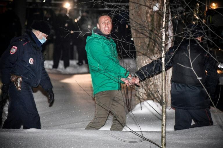 Alexei Navalny was arrested in January 2021 on returning to Russia after recovering from a near-fatal poisoning attack