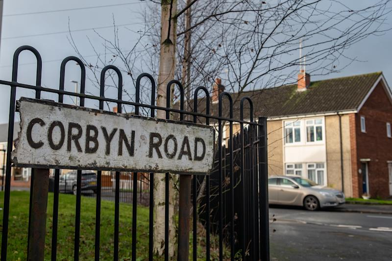 Corbyn Road in Dudley, West Midlands. (SWNS)