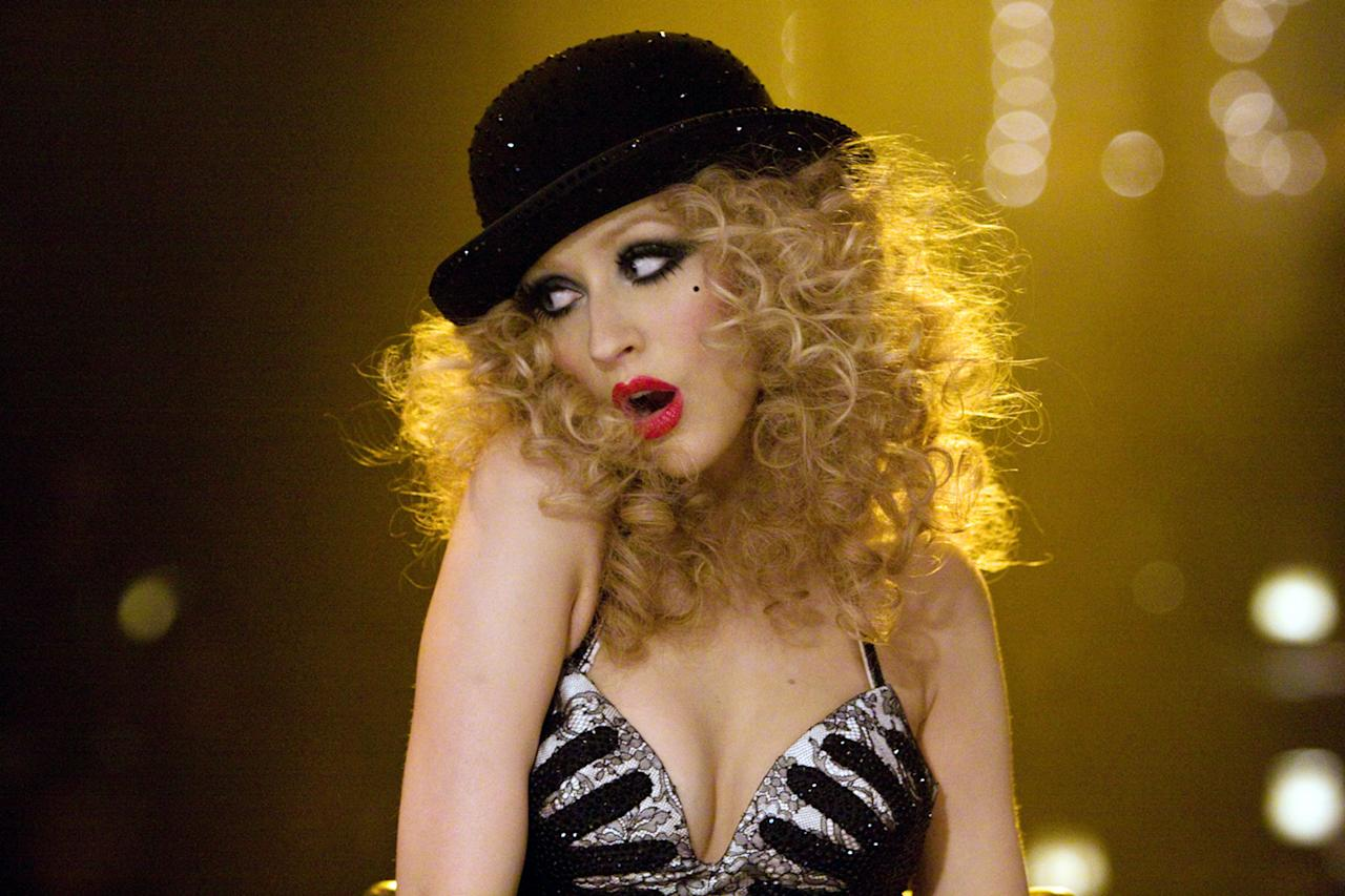 "Christina Aguilera in ""Burlesque""  If a more painful movie has been released in the last 10 years, there were no survivors left to tell the tale. Aguilera plays a small-town girl who comes to the big city in search of stardom, only to get derailed by a stint working for Cher at a nouveau burlesque club. But if this sounds like a tragedy, think again: Burlesque bumping-and-grinding is portrayed as a totally artistically fulfilling end unto itself, an artform that looks almost wholesome as well as glitzy, an approach inspired, no doubt, by the then-popularity of the Pussycat Dolls. ""Given that she spends much of the movie onstage, singing and dancing in what is essentially a succession of music videos linked with backstage filler,"" wrote the New York Times in 2010, ""Ms. Aguilera doesn't have much time to embarrass herself."""