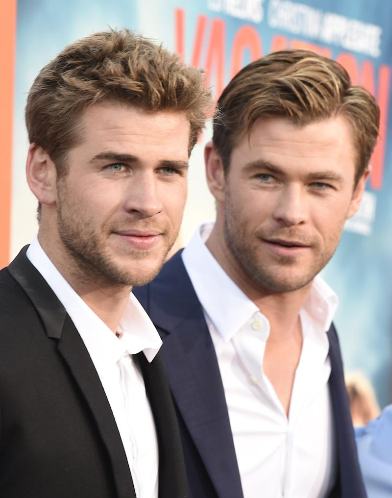 Chris and Liam Hemsworth on the red carpet