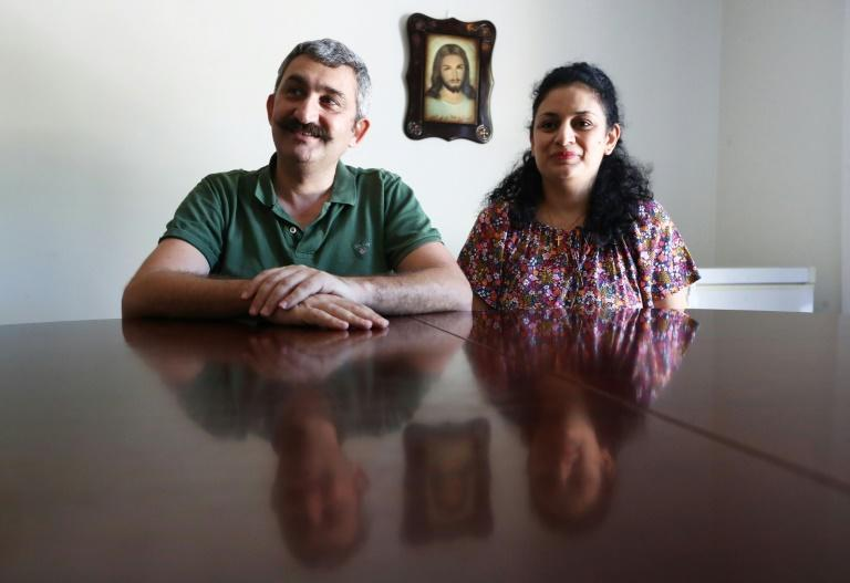 Ammar al-Kass and his wife Rana Said said they tried to stay, but finally decided to leave Iraq and were resettled in Australia