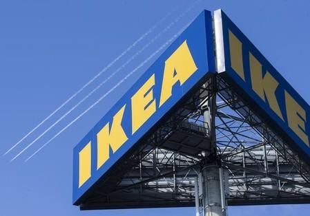 FILE PHOTO: The logo of Ikea is seen outside the Ikea Concept store, run by Inter Ikea brand and concept in Delft