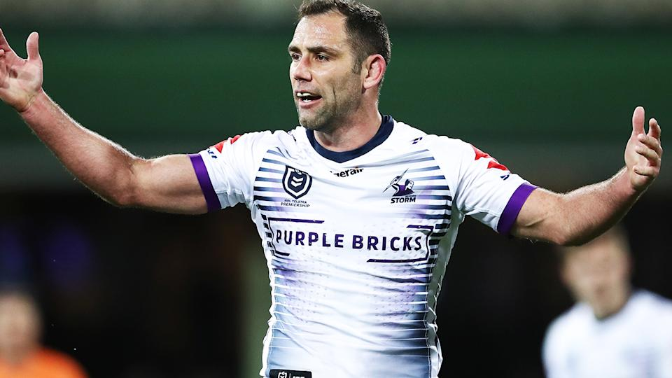 Cameron Smith, pictured here during the 2019 NRL finals.