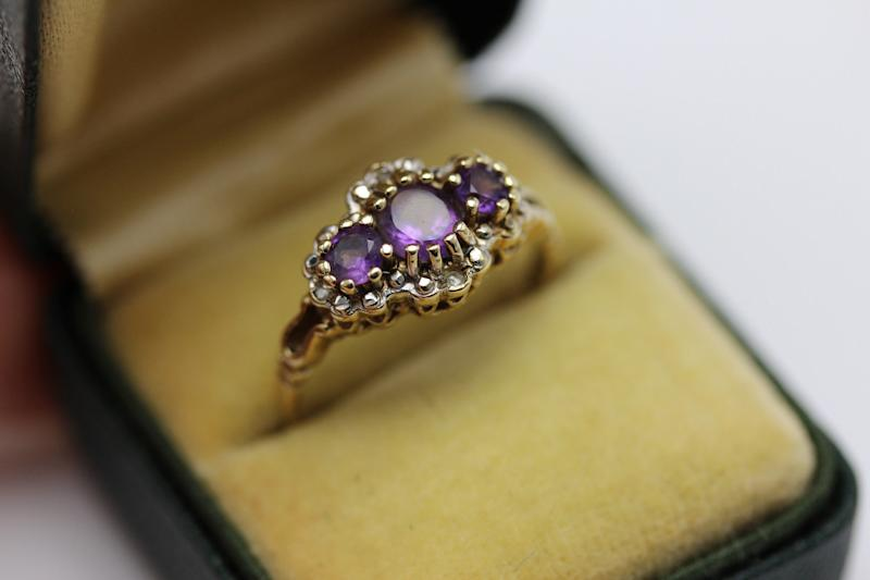 Sophisticated Amethyst Vintage Ring