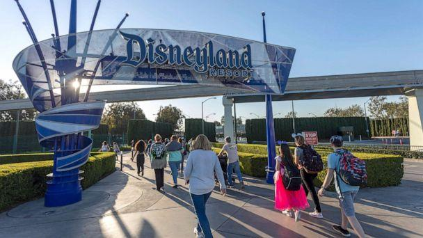 PHOTO: Visitors attend Disneyland Park on February 25, 2020 in Anaheim, California. (David Mcnew/Getty Images)