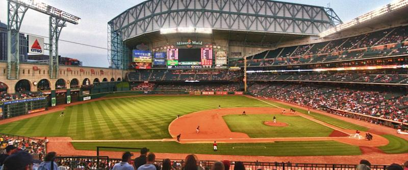 Side view of Minute Maid stadium