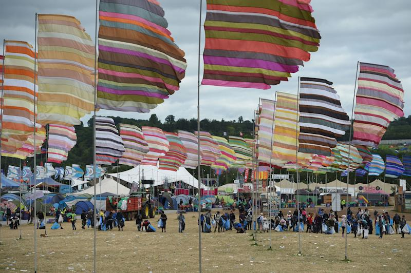 "The Glastonbury team described it as an ""enforced fallow year"". (Photo by Oli SCARFF / AFP via Getty)"