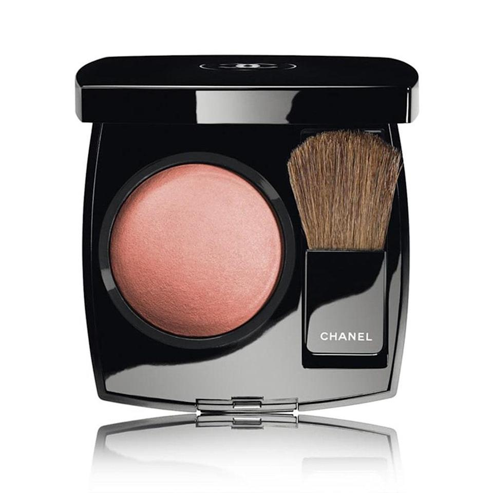 """<p><strong>Bronze</strong></p> <p>This shade, as seen in Chanel's Joues Contraste Blush in Evening Beige, is a triple threat for olive skin tones: It adds warmth, brightens, and can even create soft contours if applied strategically. """"Using a <a href=""""http://www.allure.com/beauty-products/makeup/search?makeup-products=bronzer&makeup_b=true&mbid=synd_yahoo_rss"""" rel=""""nofollow noopener"""" target=""""_blank"""" data-ylk=""""slk:bronzer"""" class=""""link rapid-noclick-resp"""">bronzer</a> or a bronze-tinged blush is going to really boost olive skin,"""" says Ciucci. </p> <p>""""Because people with this skin tone tend to tan beautifully, this looks natural on them and really helps pick up their skin tone,"""" adds Murphy. </p> <p><strong>$45</strong> (<a href=""""https://shop-links.co/1719401563737540377"""" rel=""""nofollow noopener"""" target=""""_blank"""" data-ylk=""""slk:Shop Now"""" class=""""link rapid-noclick-resp"""">Shop Now</a>)</p>"""