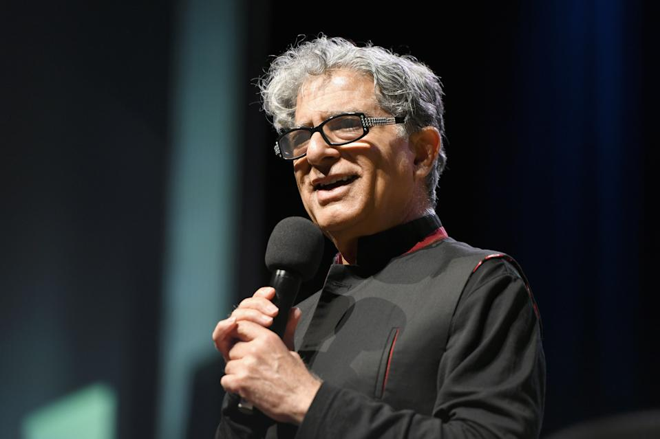 Deepak Chopra is hosting a free, 3-day global mental health summit.  (Photo by Craig Barritt/Getty Images for Something in the Water)