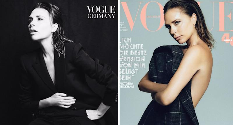Victoria Beckham poses for Vogue Germany. [Photo: Instagram]