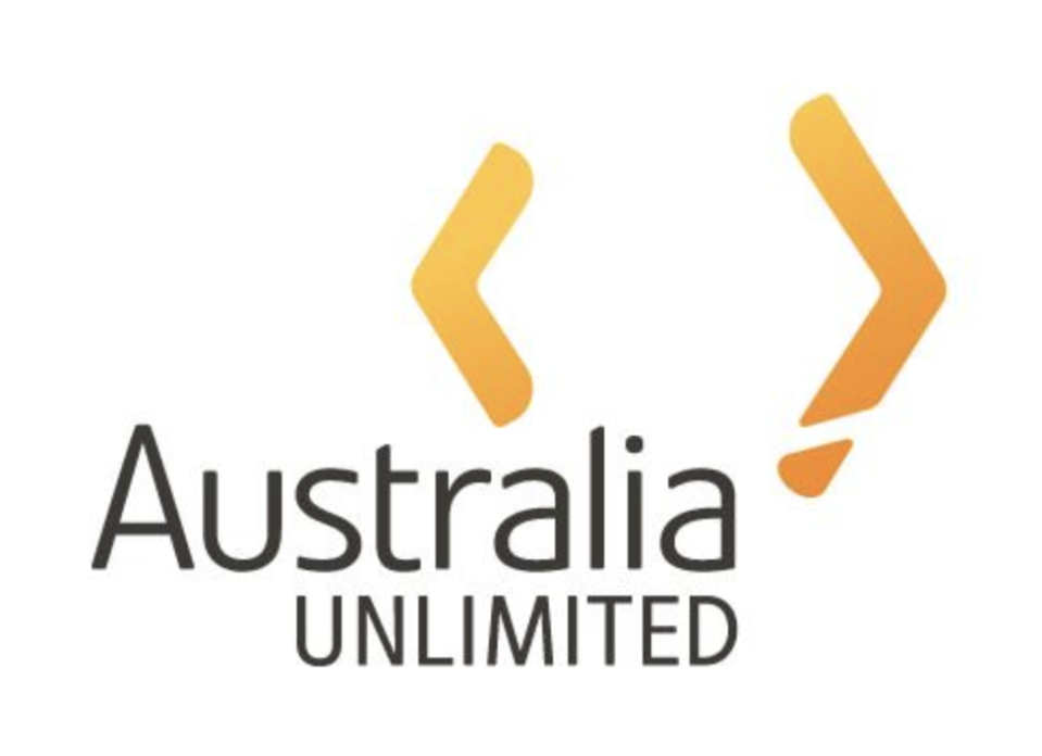 The old Australia Unlimited logo that will be replaced by a gold wattle. Source: Australia Limited