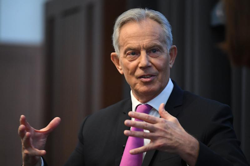 Former prime minister Tony Blair during a speech to mark the 120th anniversary of the founding of the Labour party, in the Great Hall at King's College, London. (Photo: PA)