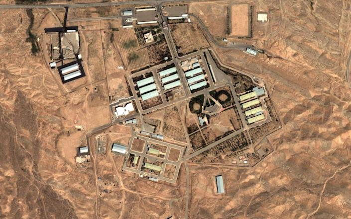 The blast came from the direction of the Parchin base, where Iran is believed to have been working on nuclear testing - AP