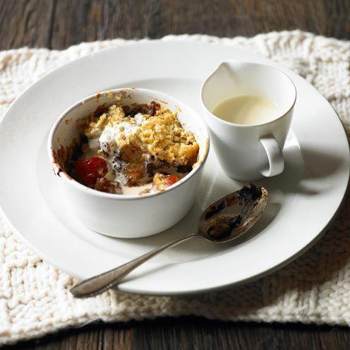 """<p>Adding a little chocolate to these crumbles gives them a feeling of decadence</p><p><strong>Recipe: <a href=""""https://www.goodhousekeeping.com/uk/food/recipes/a535457/pear-plum-and-chocolate-crumbles/"""" rel=""""nofollow noopener"""" target=""""_blank"""" data-ylk=""""slk:Pear, Plum and Chocolate Crumbles"""" class=""""link rapid-noclick-resp"""">Pear, Plum and Chocolate Crumbles</a></strong></p>"""
