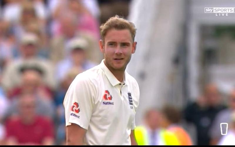 Broad does not review - Credit: Sky Sports