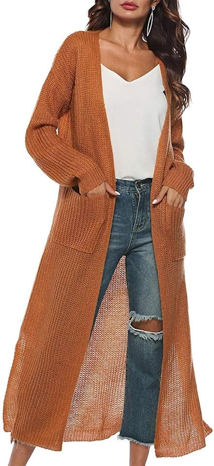"<p>This <a href=""https://www.popsugar.com/buy/Kistore-Long-Sleeve-Open-Cardigan-491776?p_name=Kistore%20Long%20Sleeve%20Open%20Cardigan&retailer=amazon.com&pid=491776&price=26&evar1=fab%3Aus&evar9=46822302&evar98=https%3A%2F%2Fwww.popsugar.com%2Fphoto-gallery%2F46822302%2Fimage%2F46822307%2FPerfect-For-Layering&list1=shopping%2Cfall%20fashion%2Camazon%2Csweaters%2Cwinter%20fashion&prop13=api&pdata=1"" rel=""nofollow"" data-shoppable-link=""1"" target=""_blank"" class=""ga-track"" data-ga-category=""Related"" data-ga-label=""https://www.amazon.com/Cardigan-Sweaters-Lightweight-Sweater-Yellow/dp/B07GGYJGZM/ref=sr_1_14?crid=V08YT3D4YJPQ&amp;keywords=burnt%2Borange%2Bdress&amp;qid=1568745383&amp;s=apparel&amp;sprefix=burnt%2Bor%2Cfashion%2C197&amp;sr=1-14&amp;th=1&amp;psc=1"" data-ga-action=""In-Line Links"">Kistore Long Sleeve Open Cardigan</a> ($26) is a great layering piece.</p>"