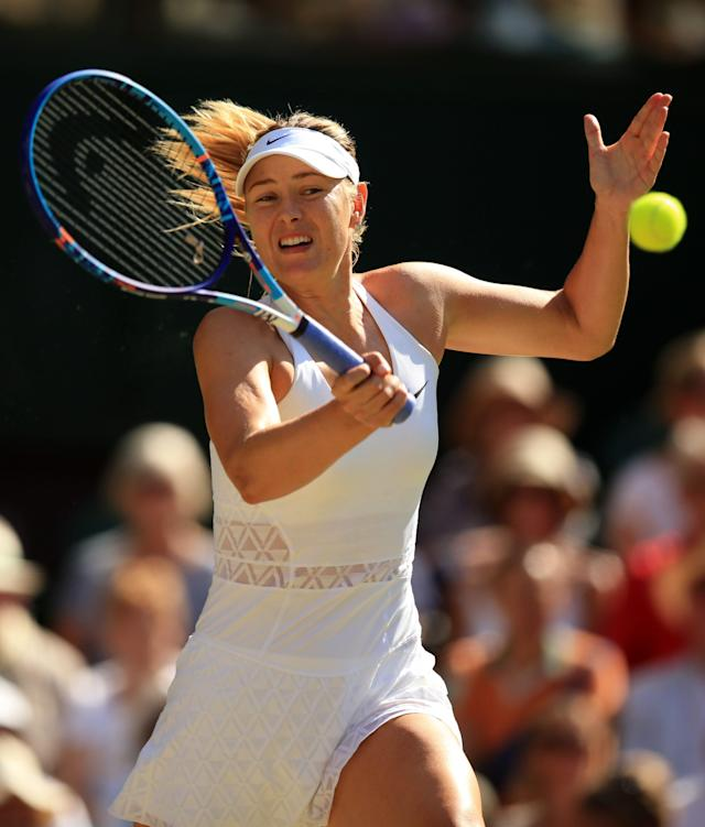 <span>Maria Sharapova is looking forward to returning to her 'day job' next month</span>