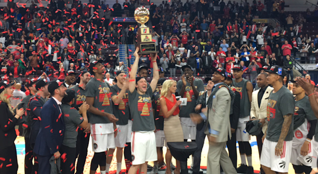 The Toronto Raptors D-League affiliate, Raptors 905, won the first championship in its history Thursday night. (Courtesy Raptors 905)