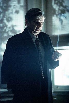 The Cigarette Smoking Man (William B. Davis) indirectly aids Mulder and Scully in the search for clues to the abduction of Mulder's sister on Fox's The X-Files X-Files