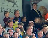 <p>Prince George cheers from the stands at a Premier League match.</p>