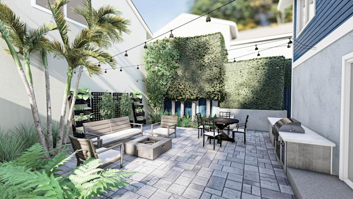 """""""We're here to deliver the most delightful landscape design and ultimately improve our client's quality of life,"""" Messner says. This new design maximizes square footage and makes it easy to use the backyard as an extension of the home."""