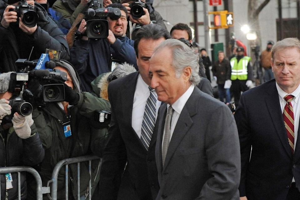 At the time of Madoff's arrest, fake account statements were telling clients they had holdings worth £43.5 billionAP