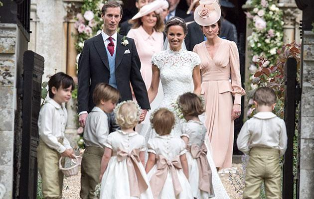 Pippa's big sister Kate was on hand to help on the big day. Source: Getty