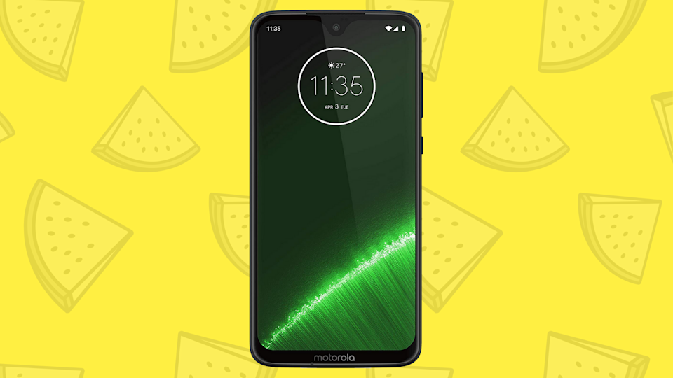 No, we don't know why there are watermelon slices floating behind this phone...but we do know you'd be nuts to pass up this amazing deal. (Photo: Amazon)
