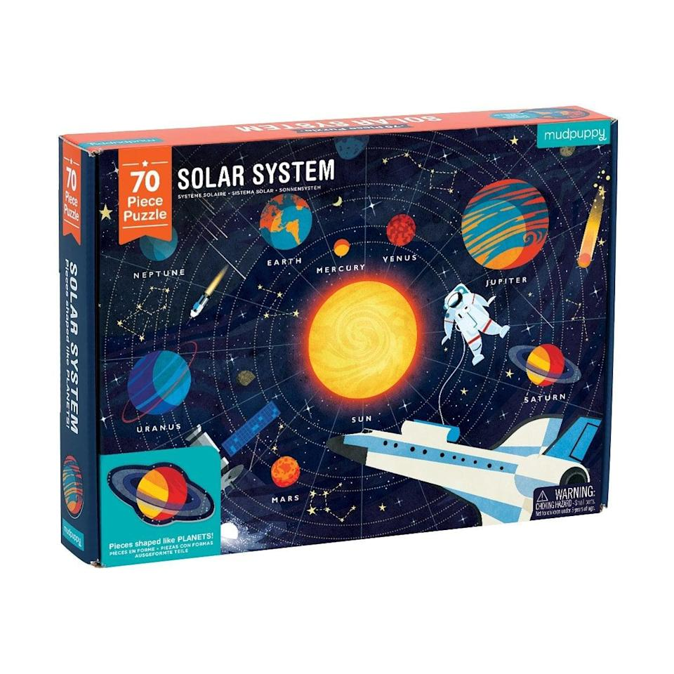 <p>What better way to teach your kids about space than with this <span>Mudpuppy Solar System Puzzle</span> ($17)?</p>