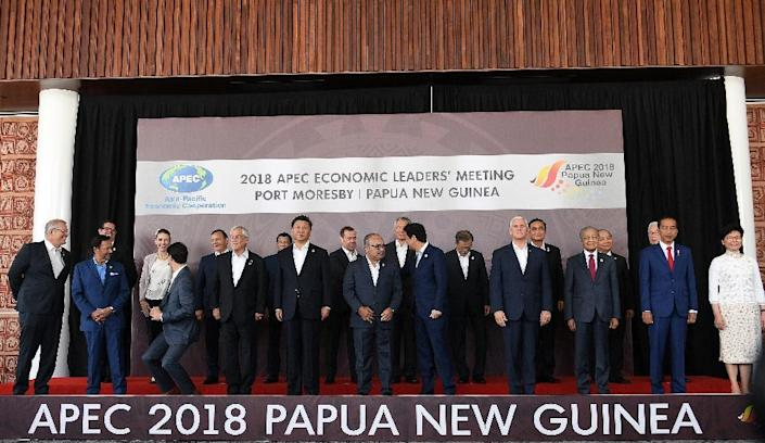 The APEC summit has been overshadowed by an unusually sharp exchange of words between the US and China (AFP Photo/SAEED KHAN)