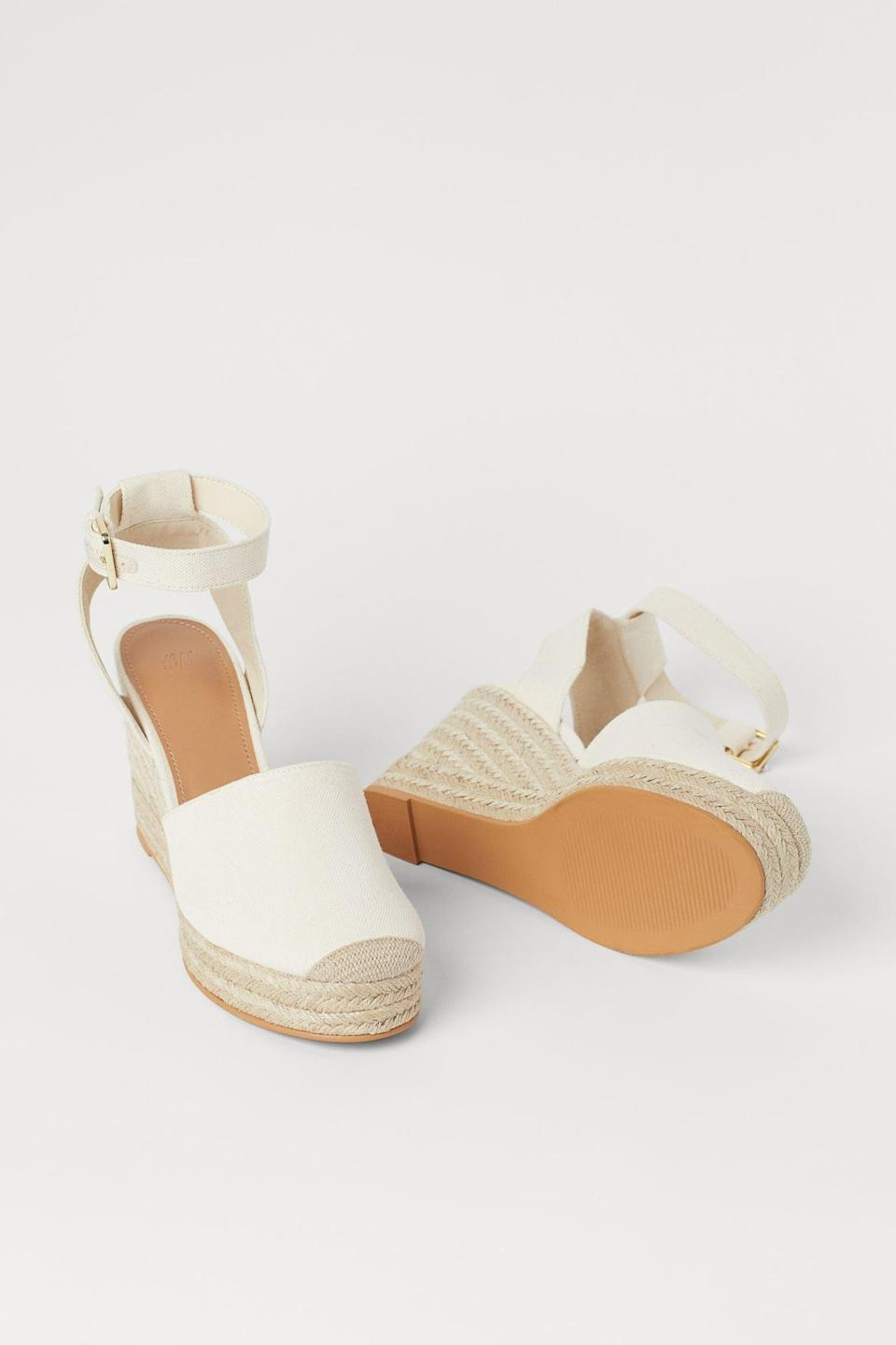 <p>Headed to the beach? A spontaneous brunch or park hang? These <span>Wedge-heel Espadrilles</span> ($35) will take you anywhere in style.</p>