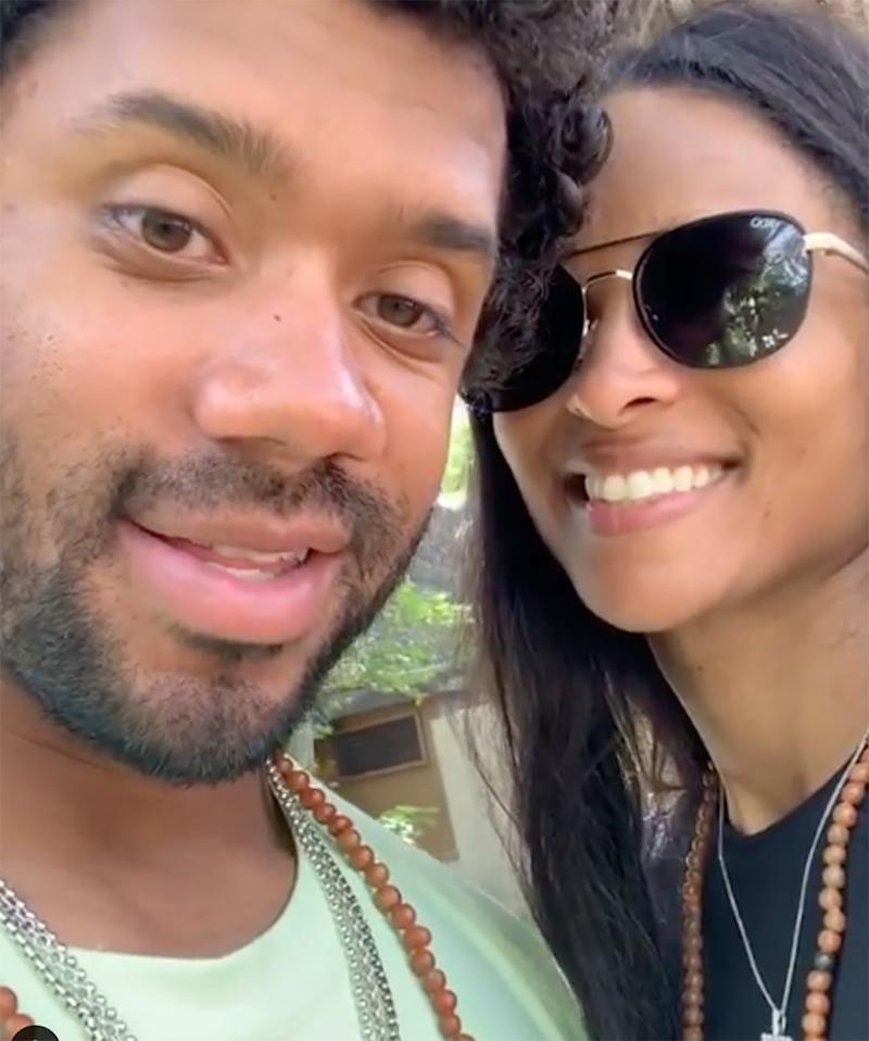 d36c9387bb11f Russell Wilson & Ciara Celebrate Third Wedding Anniversary: 'Many More  Years of Love ... and Kids'