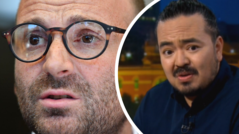 George Calombaris and Adam Liaw. Images: AAP, ABC Q and A