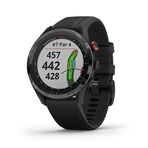 """<p><strong>Garmin</strong></p><p>amazon.com</p><p><strong>$399.99</strong></p><p><a href=""""https://www.amazon.com/dp/B083BJSYZ9?tag=syn-yahoo-20&ascsubtag=%5Bartid%7C2139.g.27207975%5Bsrc%7Cyahoo-us"""" rel=""""nofollow noopener"""" target=""""_blank"""" data-ylk=""""slk:BUY IT HERE"""" class=""""link rapid-noclick-resp"""">BUY IT HERE</a></p><p>Whether you're a duffer or an ace, a smartwatch can help elevate your game. This model from Garmin comes preloaded with more than 41,000 courses from around the world and automatic map updates. It's like having the world's best caddy at arm's length (in this case, literally on your arm).</p>"""